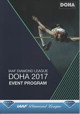 2017 Doha IAAF Diamond League programme: Athlétisme/Track & Field: IAAF