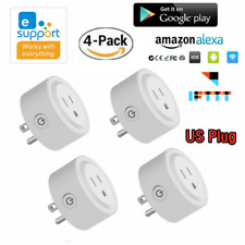 4 x Wifi Smart Plug Remote Control Socket Outlet Switch for Alexa Google Home