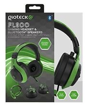 Gioteck Fl300 Wired Stereo Headset With Removable Bluetooth Speakers - Green DVD