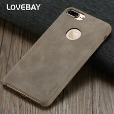 For  iPhone 6 6s 7 Plus Luxury Ultra Thin Matte PU Leather Back Skin Case Cover