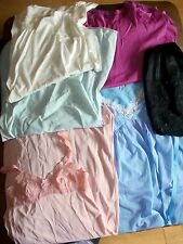 Job Lot Vintage Slips Nighties Nylon 6 Items St Michael Quaker