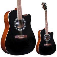 LINDO Black 42C Acoustic Guitar | Select Natural Catalpa Wood Finish | & Gigbag