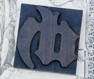 """ligature: """"ch""""  blackletter wood type 3.54"""" woodtype font letterpress printing h"""