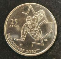 2009 Canada 25 Cent Vancouver 2010 Olympics Sledge Hockey Circulated