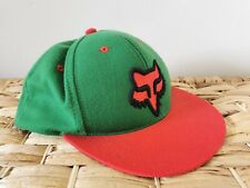 Fox Hat Cap Snapback Red & Green