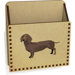 'Dachshund' Wooden Letter Holder / Box (LH00040359)