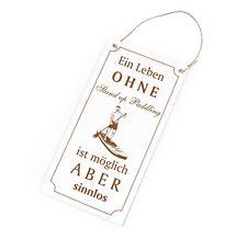 Schild Spruch - Ein Leben ohne Stand Up Paddling ist sinnlos - Türschild 10x20cm