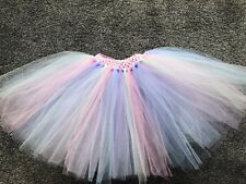 Girls Pastel Rainbow Unicorn Tutu Skirt Multi Coloured Handmade Age 1 - 10 Years