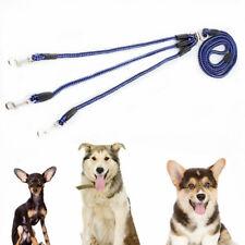 3 Way Coupler Triple Multiple Nylon Dog Pet Walking Leash No Tangle Lead