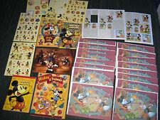 Vintage Disney Mickey Mouse Stationery Lot - Notecard Set, Notepads, Stickers