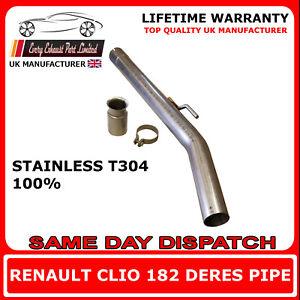 Renault Clio 182 Exhaust Non Res Centre Pipe Louder (03-06) Suitable for Milltek