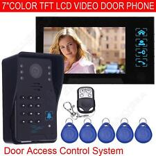 """Wired Camera 7"""" Touch Panel Video Monitor Gate Access Intercom Door Bell Phone"""