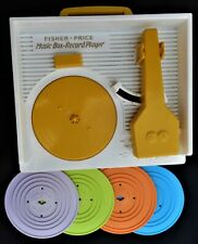 Fisher-Price Music Box-Record Player Mattel 4 Records