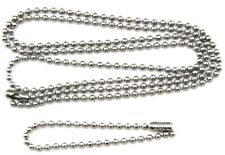 "Military Spec Stainless Steel Army Dog Tag Ball Chain Set (27"" & 4.5"")"
