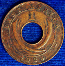 1 CENT 1924 EAST AFRICA BB VF #3903A