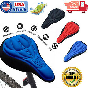 Padded Bike 3D Gel Saddle Seat Cover Bicycle Silicone Soft Comfort Pad Cushion