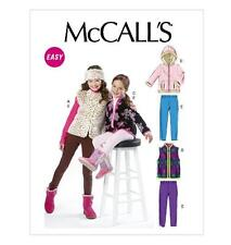 McCall's UNCUT Children's/Girls' Lined Vest, Unlined Vest and Jackets (2-5)