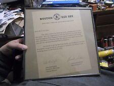 1992 Boston Red Sox Framed Letter