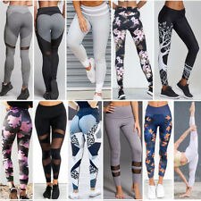 Women High Jogging Yoga Fitness Leggings Gym Sports Pants Stretch Trousers