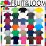 Fruit of the Loom Cotton Plain Blank Mens Womens Tee Casual T-Shirt (S-2XL)