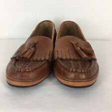Hanover tassel  Loafers Shoes Mens 11 D Brown Leather Slip On