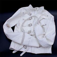 Bondage Restraint Strict Faux Leather Premium Straight Jacket - White 8034