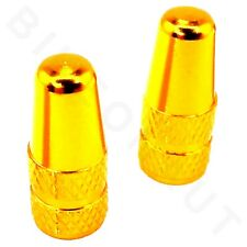Presta Valve Cap Gold 2 pieces Aluminum Alloy Bike Bicycle *U.S.A. Seller*