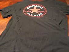 Converse All Stars Mens Tshirt Size L Black Red And White Logo