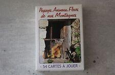 Rare Jeu de 54 cartes collection Paysages Animaux Fleurs EDY photographie fleur