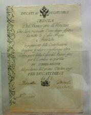10 DUCATI 1798 VENEZIA CEDOLA BANCO DEL GIRO QFDS/FDS  RARA
