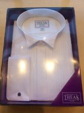 Cotton Big & Tall Textured Double Cuff Formal Shirts for Men