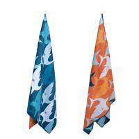 Navy Shark Sand Free Beach Towel