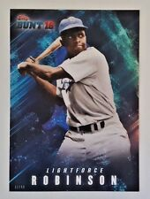 "2016 TOPPS BUNT JACKIE ROBINSON ""LIGHTFORCE"" 5X7 JUMBO ART CARD #/49 DODGERS"