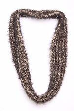 Schwarz & beige Classic Knit W Twist-Fluff ganz Infinity Shape Schal S171