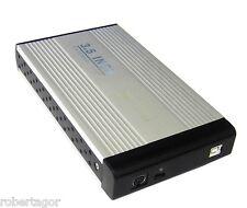 """CASE BOX ESTERNO PER HARDISK HARD DISK IN ALLUMINIO HD 3.5"""" IDE SATA USB 2.0 HDD"""