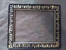 cadre style napoléon 3 bois stuc noir doré feuillure 25,5 cm x 20,5 cm frame