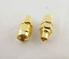 10x SMA Male Plug To MCX Female Jack Straight RF Coaxial Coax Adapter Connector