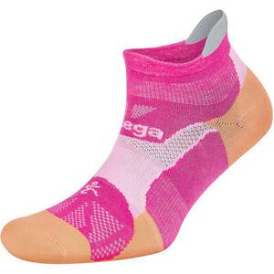 Balega Hidden Dry No Show Running Socks - Electric Pink/Peach