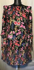 Nwt! Vince Camuto Dress Size 6 Off Shoulder Black, Pink Floral Above Knee