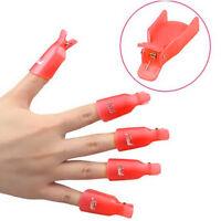 Pink 10X Wearable Acrylic Nail Art Soak Off Wrap Clip Cap Polish UV Gel Remover