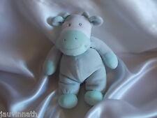 Doudou vache bleu, gris, Nicotoy