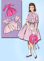 1960s Vintage Butterick Sewing Pattern 9161 Uncut Teen Girls Shirtwaist Dress 14