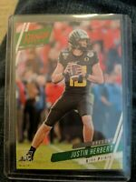 Justin Herbert 2020 Panini Chronicles Prestige Xtra Points Red Parallel RC
