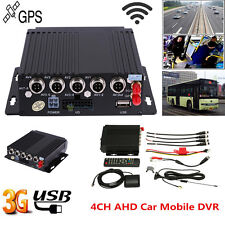 4CH Channel AHD Car Mobile DVR SD 3G Wireless GPS Realtime Video Recorder Remote