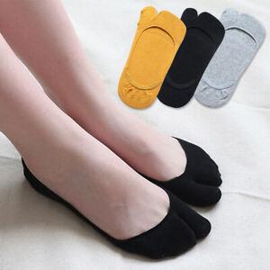 1 Pair Women Socks Soft Shallow split toe Slipper Socks Anti-bacterial Soft Home