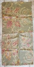 """2 Pillow Sham Covers 16"""" x 16"""" NWT Paisley Gold Green Red"""