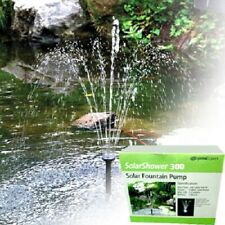 Solar Powered Water Garden Pond Feature Pump 79GPH,  Battery Backup & LED Lights
