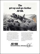 1978 vintage aircraft Ad McDonnell Douglas AV-8B HARRIER V/STOL Marines   022821