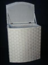 """Wäschekorb klein aus Nylon neu mit Futter Farbe """" weiß grau """"  Sitzhocker"""