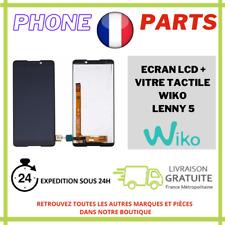ECRAN COMPLET LCD + VITRE TACTILE POUR WIKO LENNY 5 NOIR